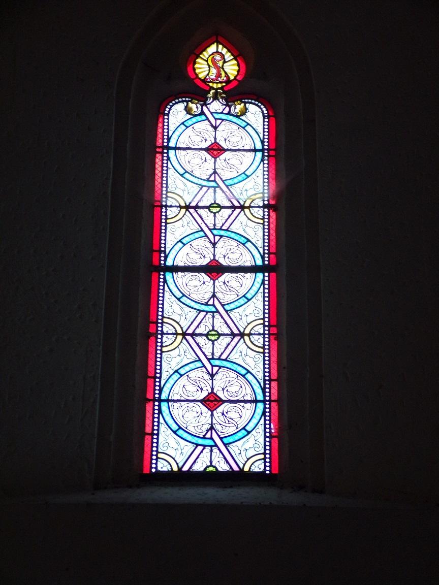 Saint-Laurent de Cognac - L'église Saint-Laurent - Un vitrail (31 mai 2018)