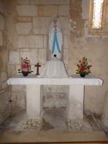 Saint-Martial sur le Né - L'église Saint-Martial - La chapelle 'Notre Dame de Lourdes' (17 juillet 2018)