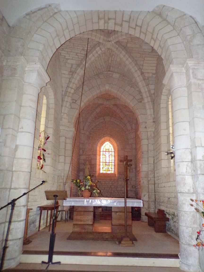 Saint-Martial sur le Né - L'église Saint-Martial - Le choeur (17 juillet 2018)