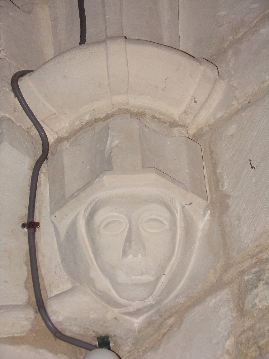 Saint-Martial sur le Né - L'église Saint-Martial - Un modillon (17 juillet 2018)