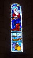Saint-Simon - L'église Saint-Simon - Le vitrail 'Vierge fidèle' (5 mai 2018)
