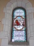 Sainte-Sévère - L'église Saint Augustin - Le vitrail 'F. Lagrange offert par Mes ESTABEL et DEVIER' (23 juillet 2018)