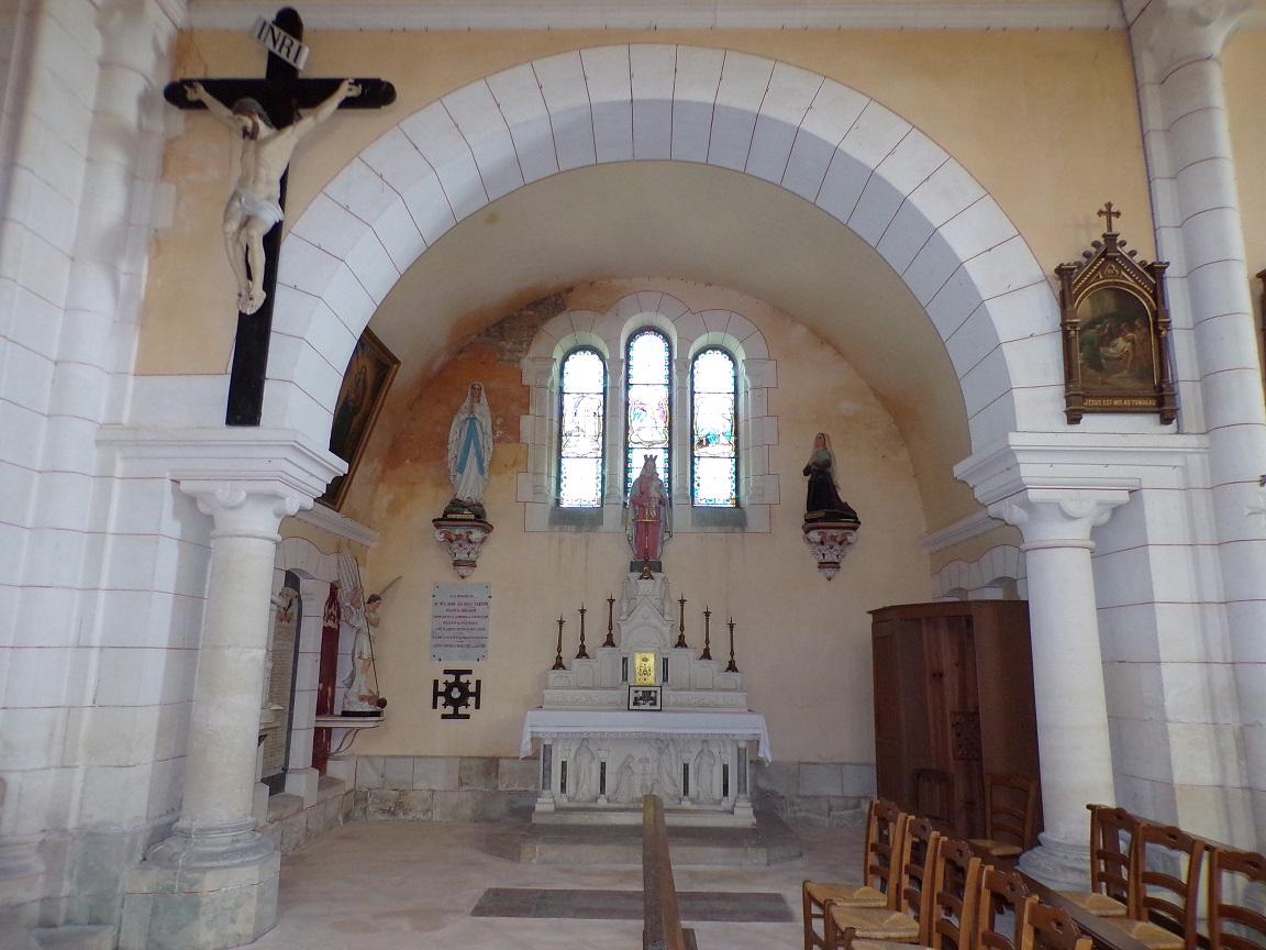 Sainte-Sévère - L'église Saint Augustin - Le Choeur (23 juillet 2018)