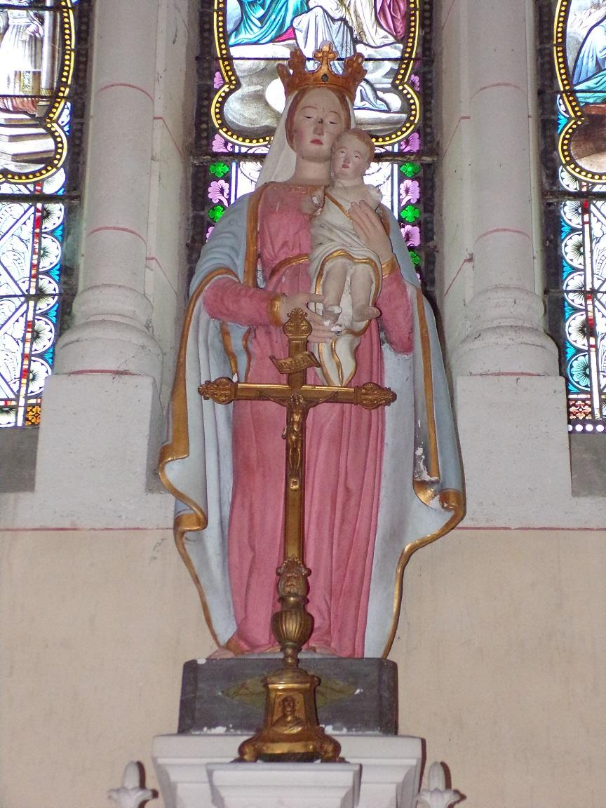 Sainte-Sévère - L'église Saint Augustin - Vierge et l'Enfant (23 juillet 2018)