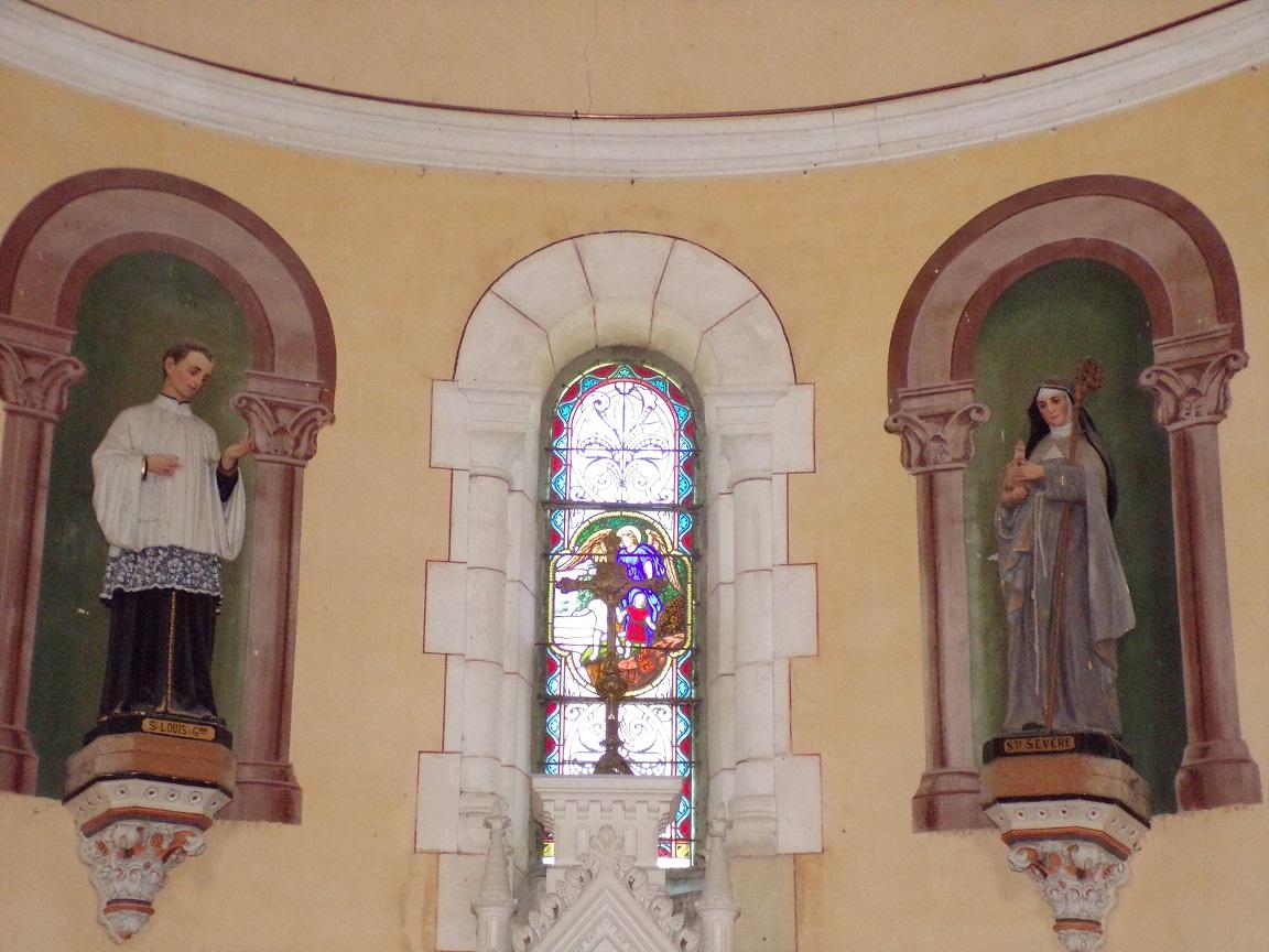 Sainte-Sévère - L'église Saint Augustin - L'abside (23 juillet 2018)