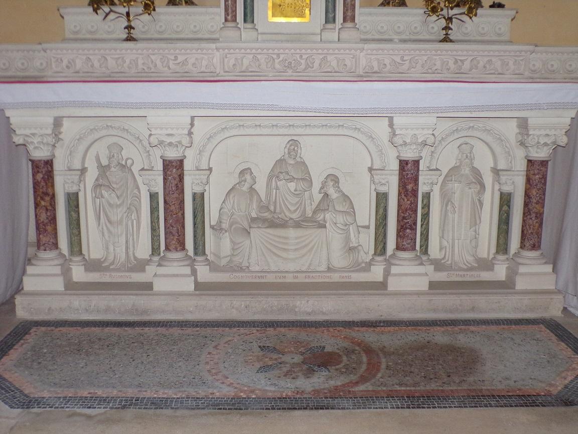 Sainte-Sévère - L'église Sainte Sévère - L'autel (23 juillet 2018)