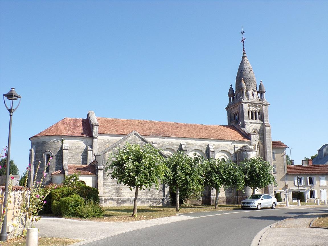 Sainte-Sévère - L'église Saint-Augustin (22 juillet 2019)