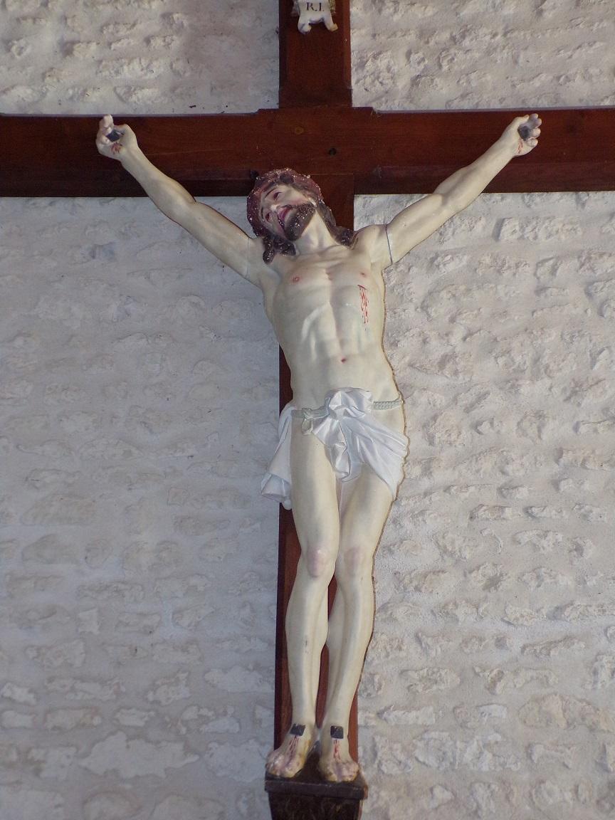Salignac-sur-Charente - L'église Saint-Louis - Le Crucifix (27 juin 2018)