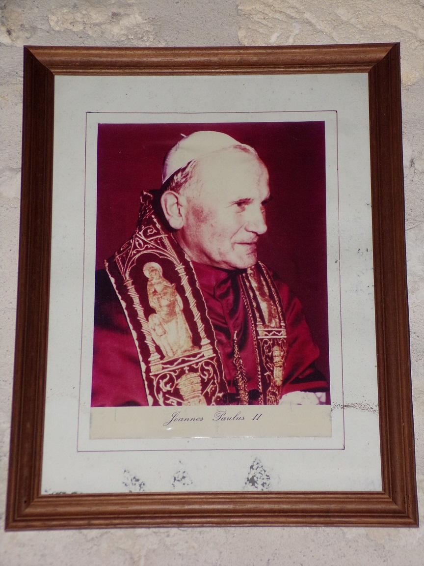 Salignac-sur-Charente - L'église Saint-Louis - Photo de Jean-Paul II (27 juin 2018)