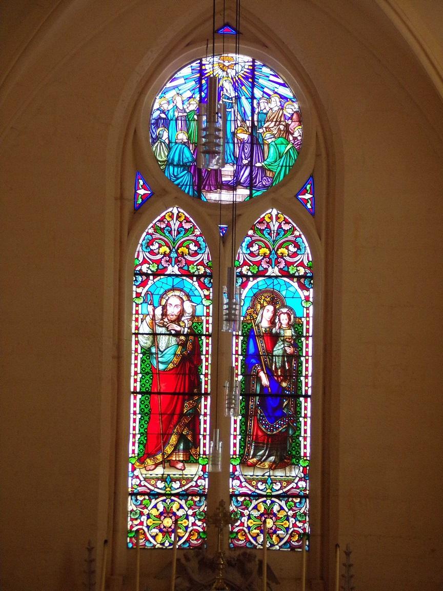 Salles d'Angles - L'église Saint-Maurice - Des vitraux (22 août 2016)