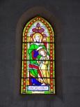 Segonzac - L'église Saint-Pierre - Le vitrail 'Sainte Anne' (11 juillet 2018)