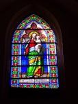 Segonzac - L'église Saint-Pierre - Le vitrail 'Saint Joseph' (11 juillet 2018)
