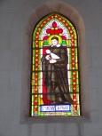 Segonzac - L'église Saint-Pierre - Le vitrail 'Saint Vincent de Paul' (11 juillet 2018)
