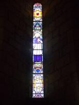 Sigogne - L'église Saint-Martin - Le vitrail 'Saint François de Salles' (29 juillet 2019)