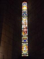 Sigogne - L'église Saint-Martin - Le vitrail 'Saint-Jean-Baptiste' (29 juillet 2019)