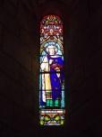 Sigogne - L'église Saint-Martin - Le vitrail 'Saint-Louis (29 juillet 2019)