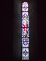 Sigogne - L'église Saint-Martin - Le vitrail 'Saint Martin' (29 juillet 2019)