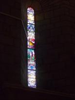Sigogne - L'église Saint-Martin - Le vitrail 'Saint-Michel' (29 juillet 2019)