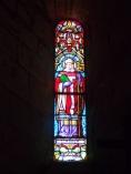 Sigogne - L'église Saint-Martin - Le vitrail 'Saint-Roger' (29 juillet 2019)