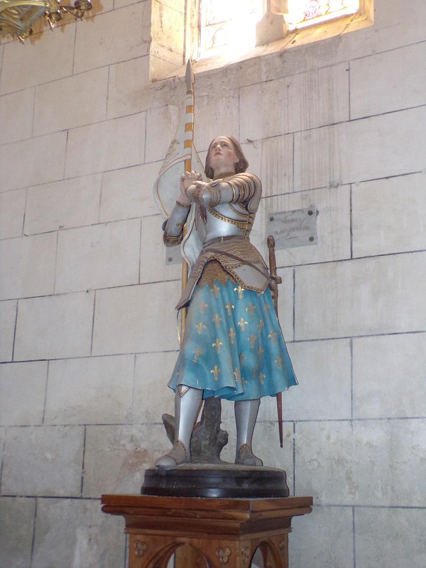 Verrières - L'église Saint-Palais - Jeanne d'Arc (7 mai 2018)