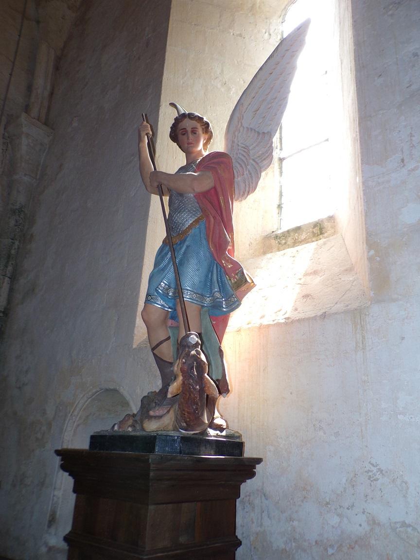 Verrières - L'église Saint-Palais - L'Archange Saint-Michel (7 mai 2018)
