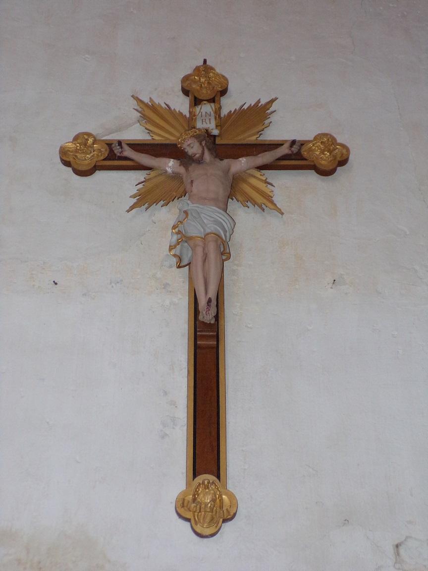 Verrières - L'église Saint-Palais - Le Crucifix (7 mai 2018)