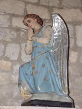 Verrières - L'église Saint-Palais - Un ange (7 mai 2018)