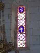 Verrières - L'église Saint-Palais - Un vitrail (7 mai 2018)