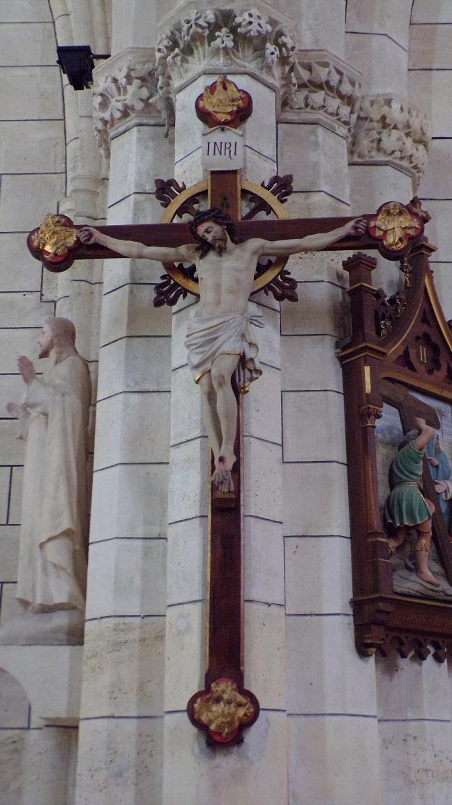 Angeac-Charente - L'église Saint-Pierre - Le Crucifix (5 mai 2018)