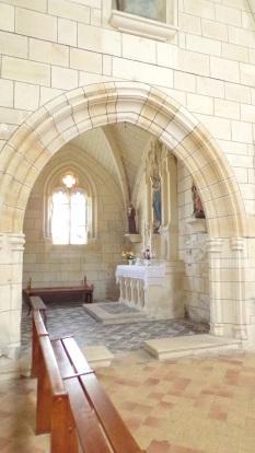 Angeac-Charente - L'église Saint-Pierre - Une chapelle (5 mai 2018)