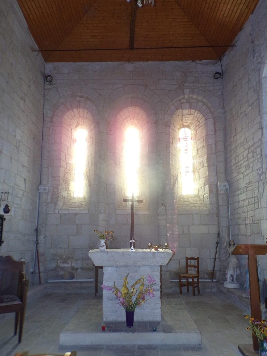 Houlette - L'église Saint Martin - Le choeur (20 août 2018)