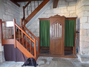 Houlette - L'église Saint Martin - Le confessionnal (20 août 2018)