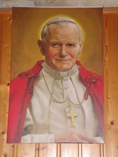 Cognac - L'église Saint-Jacques - La photo 'Jean-Paul II' (2 mars 2021)