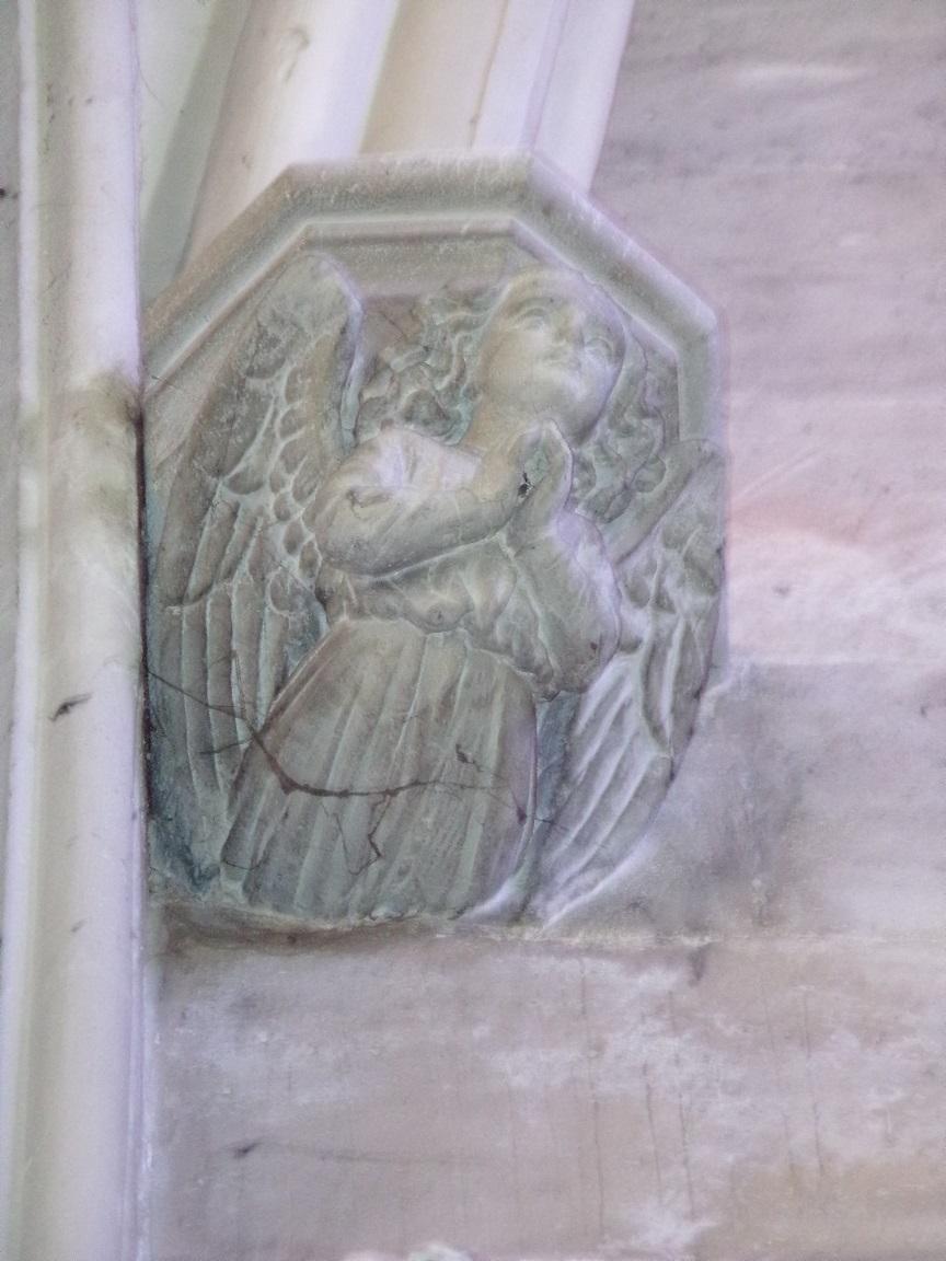 Cognac - L'église Saint-Jacques - Un modillon (2 mars 2021)