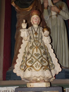 Cognac - L'église Saint-Léger - L'Enfant Jésus de la chapelle Notre Dame du Sacré Coeur (25 février 2021)