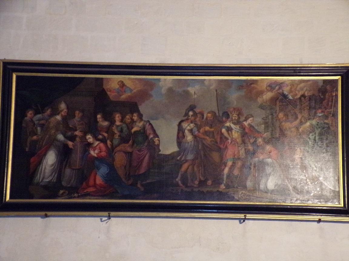 Cognac - L'église Saint-Léger - Un tableau (25 février 2021)