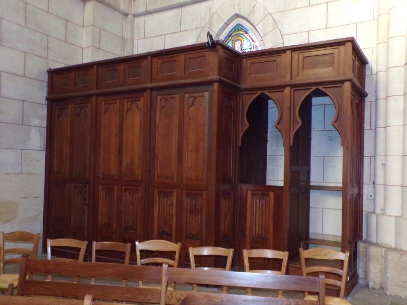 Église Saint-Martin, du Sacré-Coeur - Le confessional (2 janvier 2019)