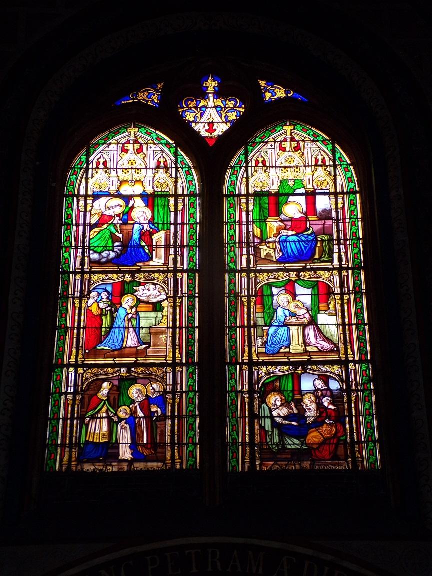 rue Aristide Briand - L'église Saint-Léger - Des vitraux (25 février 2021)
