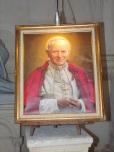 rue Aristide Briand - L'église Saint-Léger - La photo de Jean-Paul II (25 février 2019)