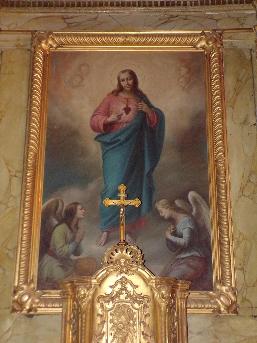 rue Aristide Briand - L'église Saint-Léger - Le tableau de la chapelle 'Sacré Coeur' (13 août 2016)