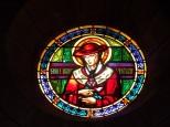 Eglise Saint Antoine – Le vitrail 'Saint Bona Venture' (19 mars 2021)