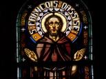 Eglise Saint Antoine – Le vitrail 'St François d'Assise' (19 mars 2021)