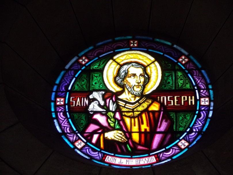 Eglise Saint Antoine – Le vitrail 'St Joseph' (19 mars 2021)