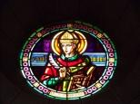 Eglise Saint Antoine – Le vitrail 'St Louis Toulouse' (19 mars 2021)