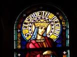 Eglise Saint Antoine – Le vitrail 'Ste Elisabeth reine' (19 mars 2021)