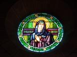Eglise Saint Antoine – Le vitrail 'Ste Marguerite de Cortone' (19 mars 2021)