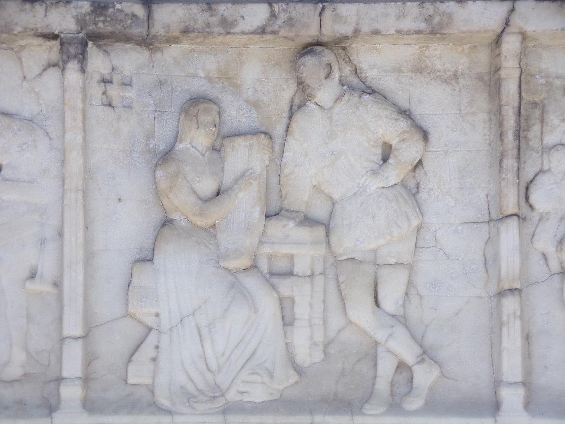 Le Roi recevant sa soeur Marguerite d'Angoulême à la prison de Madrid