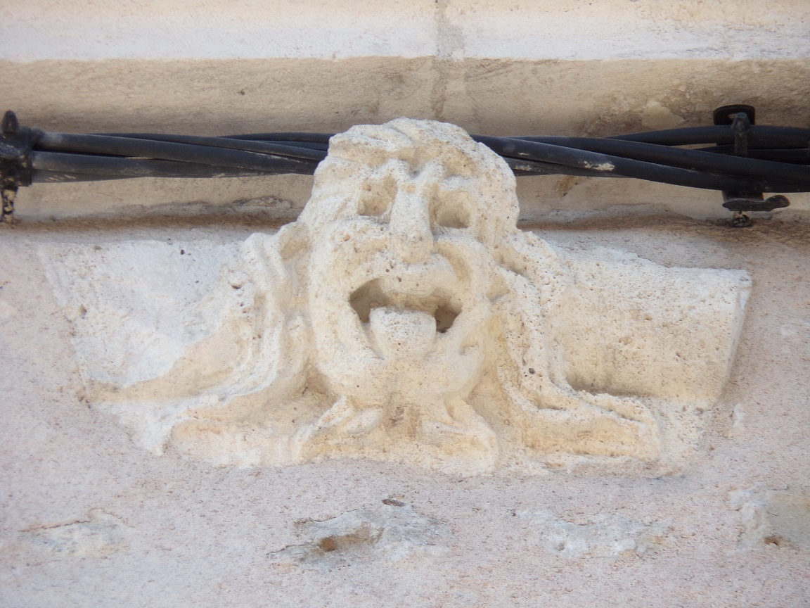 L'Hôtel Perrin de Boussac - Une tête d'homme sculptée (15 juin 2021)