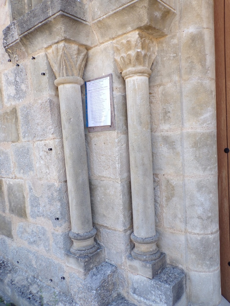 Les pilastres gauches (12 septembre 2021)