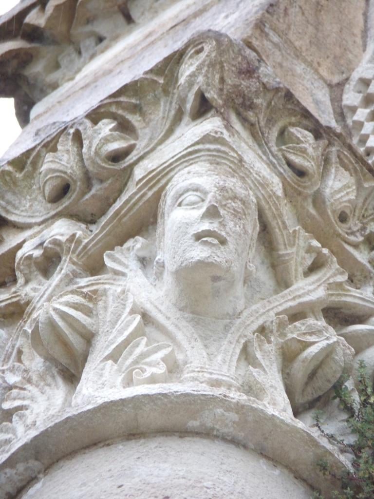 L'Abbaye de Châtre - Un modillon (18 septembre 2021)